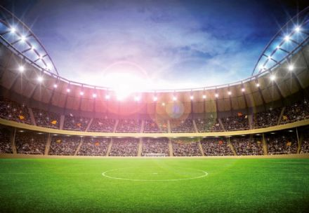 Football Stadium at Night wall mural wallpaper